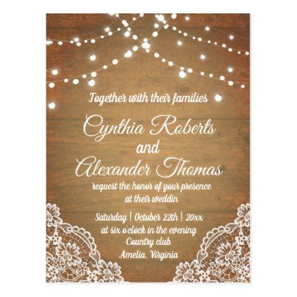 Wedding Lights Invitation Postcard Weddings, Wedding styles and - wedding postcard