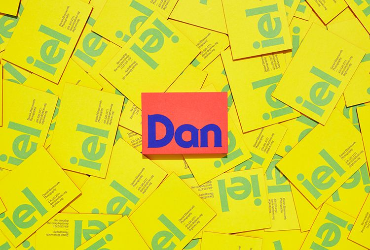 Picture of logo on business cards designed by Underline Studio for the project Daniel Ehrenworth. Published on the Visual Journal in date 17 December 2015