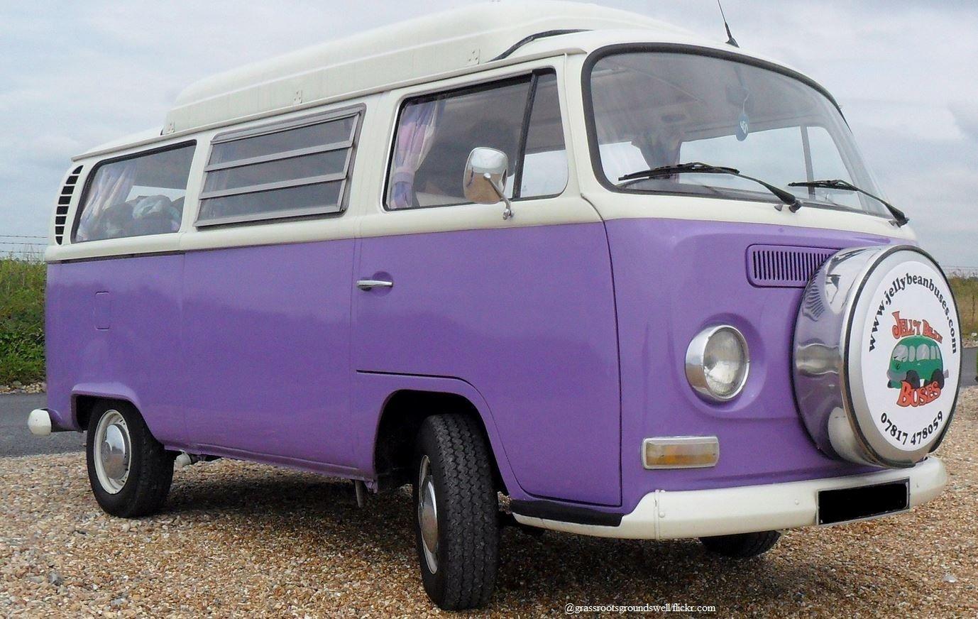 Beat The Heat Pack The Campingvan And Spend The Weekend In Nature Campingbus Campingvan Vwbus Vwvan Purlple Lila Vw Van For Sale Vw Van Van For Sale