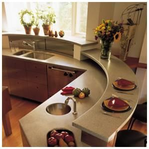 Genial Curved Kitchen Island With Sink | Curved Kitchen Counter