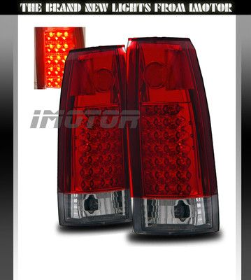 88 98 Chevy C K C10 1500 2500 3500 Blazer Escalade Led Tail Lights Red Clear New Ebay 1998 Chevy Silverado Chevy
