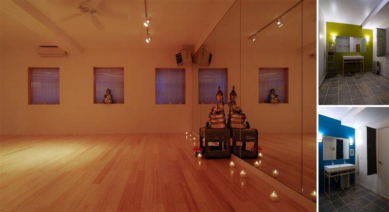 Earth yoga nyc modern contemporary yoga studio interior for Yoga room interior design