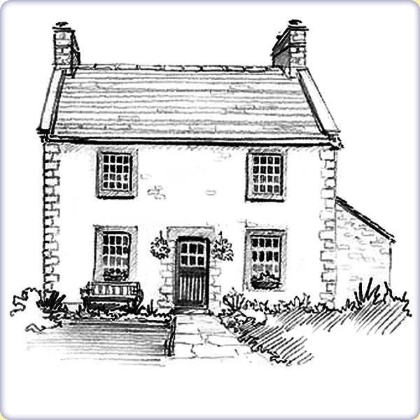 Drawings Of Houses | House Sketch Gallery   Graphic Sketch House Portraits  By Artist .