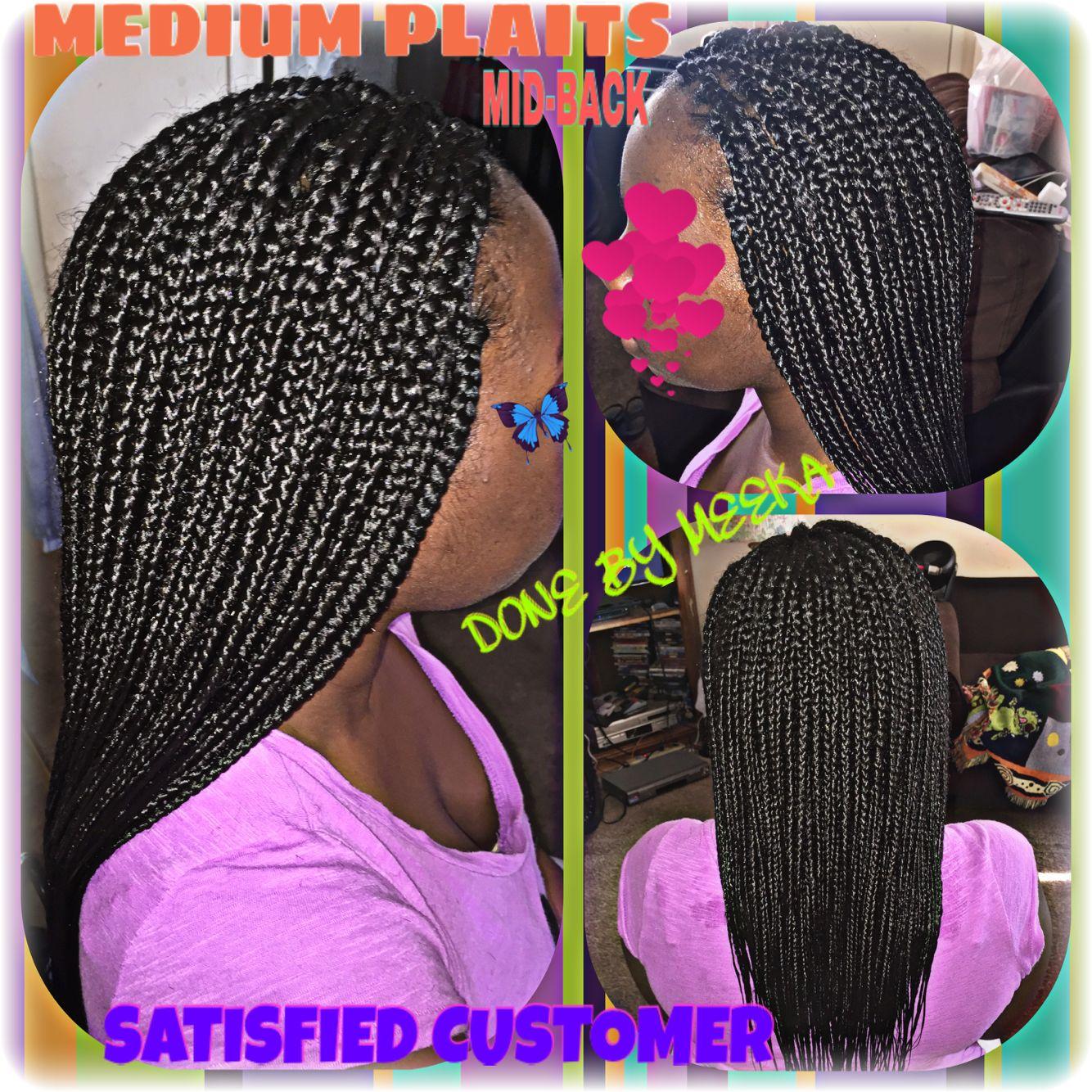 Medium plaits hairstyles pinterest plaits