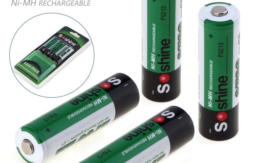 On Sale 4pcs Soshine 2700mah 1 2v Aa Battery Nimh Ni Mh Rechargeable Battery For Led Flashlight Portable Battery C Rechargeable Batteries Battery Storage Nimh