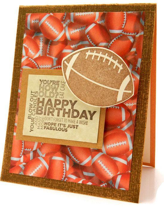Funny Birthday Card Greeting Card Football Birthday Sports Handmade Card Happy Birthday Cards For H Dad Birthday Card Funny Birthday Cards Birthday Cards