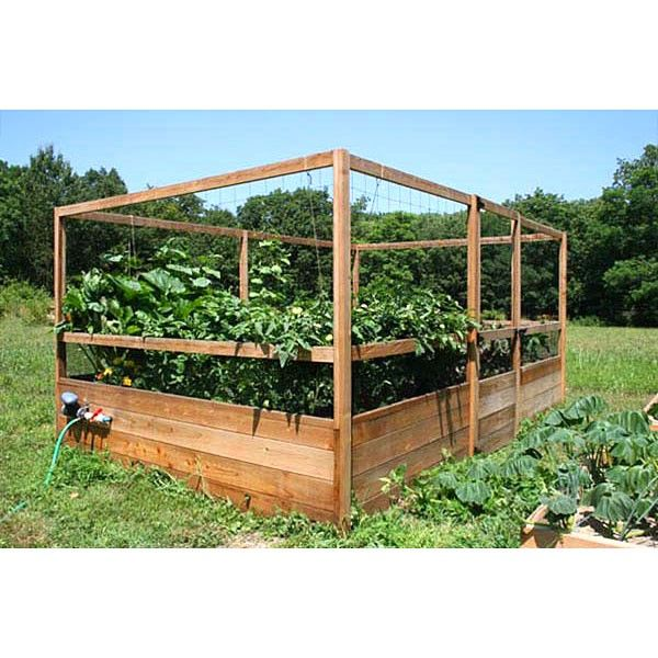 gardens to gro 8 x 12 ft deer proof vegetable garden kit raised bed container gardening at hayneedle
