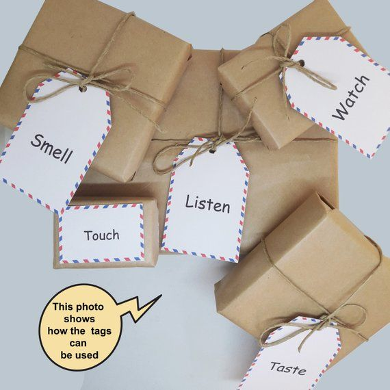 5 senses gift  50 printable cards date night jar