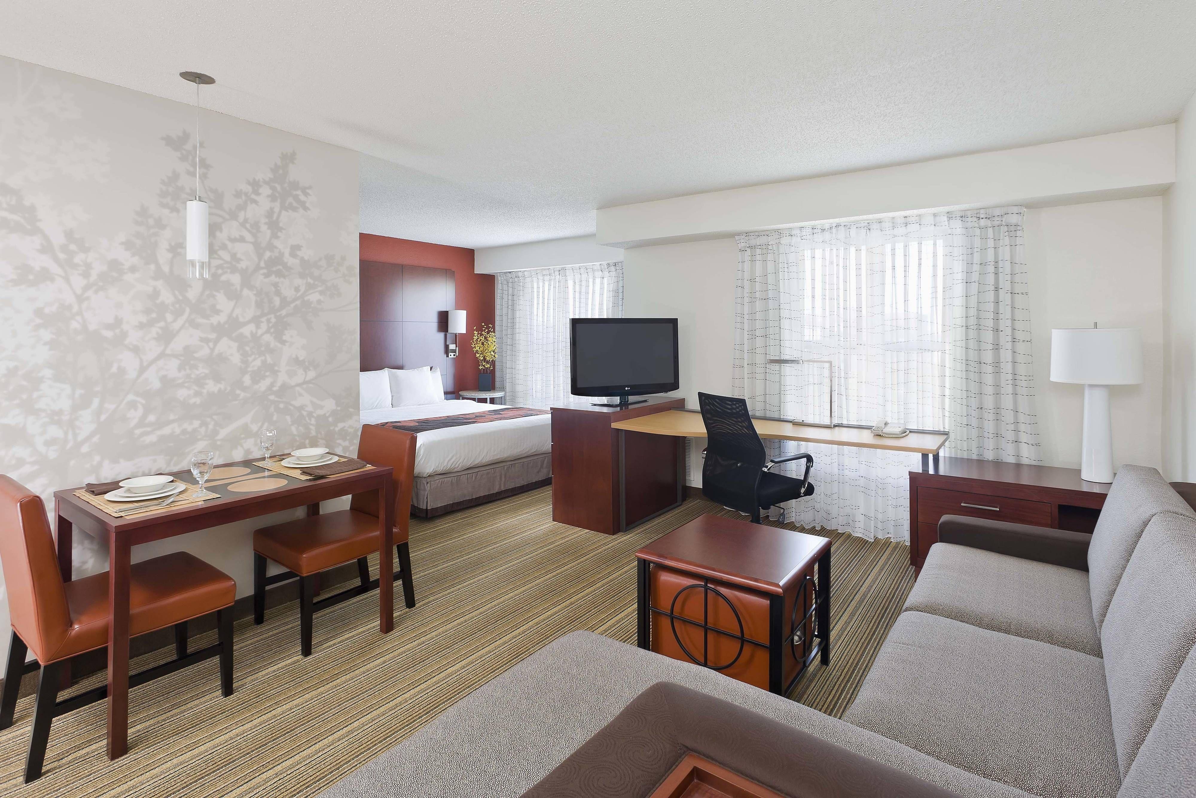 Residence Inn Waco Studio Suite Guestroom Hotels Hotel