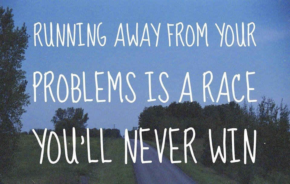 It is much easier to own up to your problems race