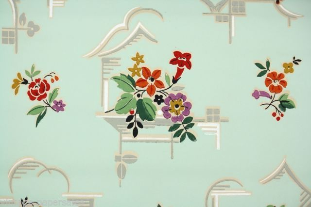 1930 1950s Vintage Wallpaper Kitchen Kitchen Wallpaper Vintage Wallpaper Wallpaper
