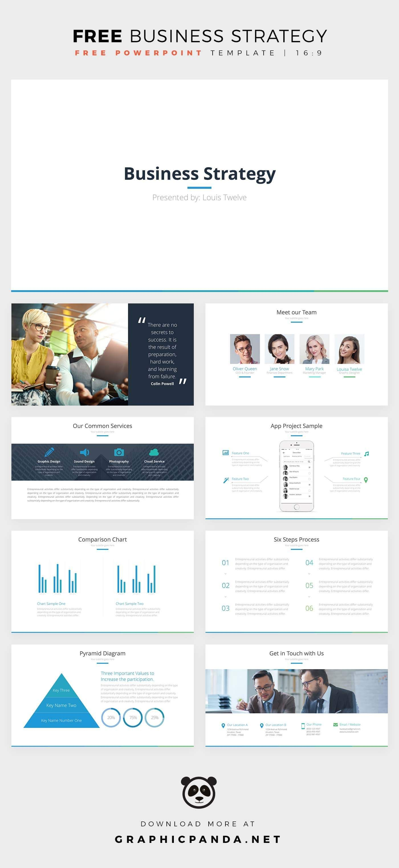 Business Strategy Powerpoint Is A Template That Is Free And