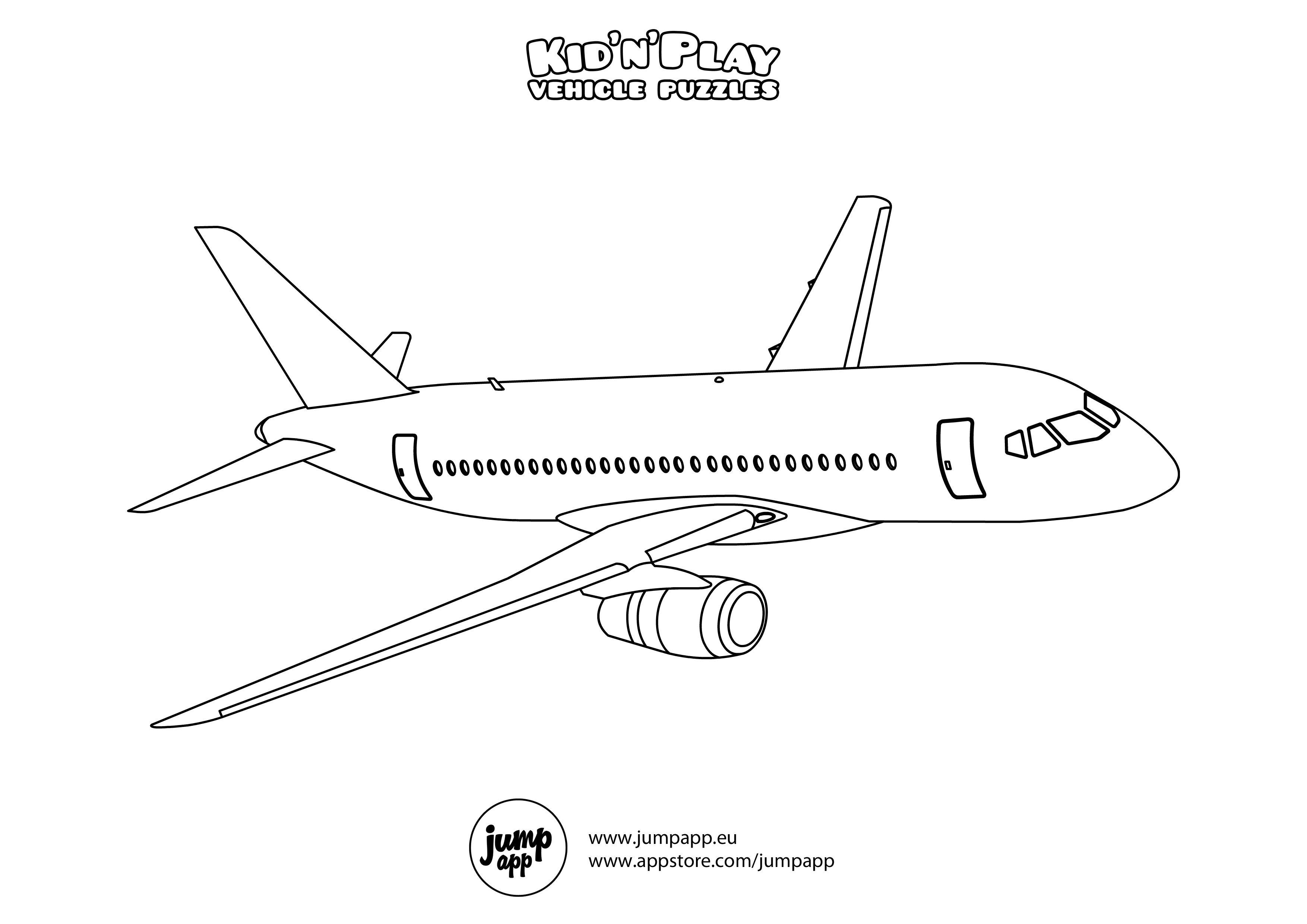 Passenger Aircraft Preescolar