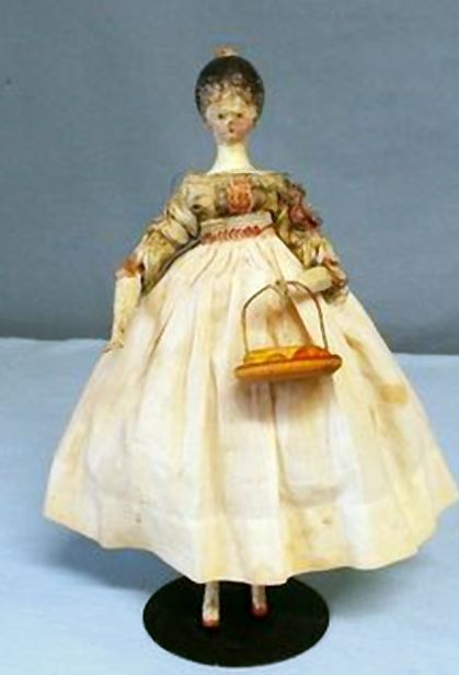 """RARE 8 &1/2"""" Grodner Tal wooden tuck comb jointed doll all original US $935.00"""