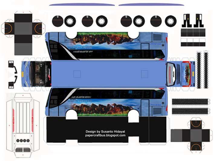 Download Pola Papercraft Bus Sale Bagian 1 Dengan Gambar