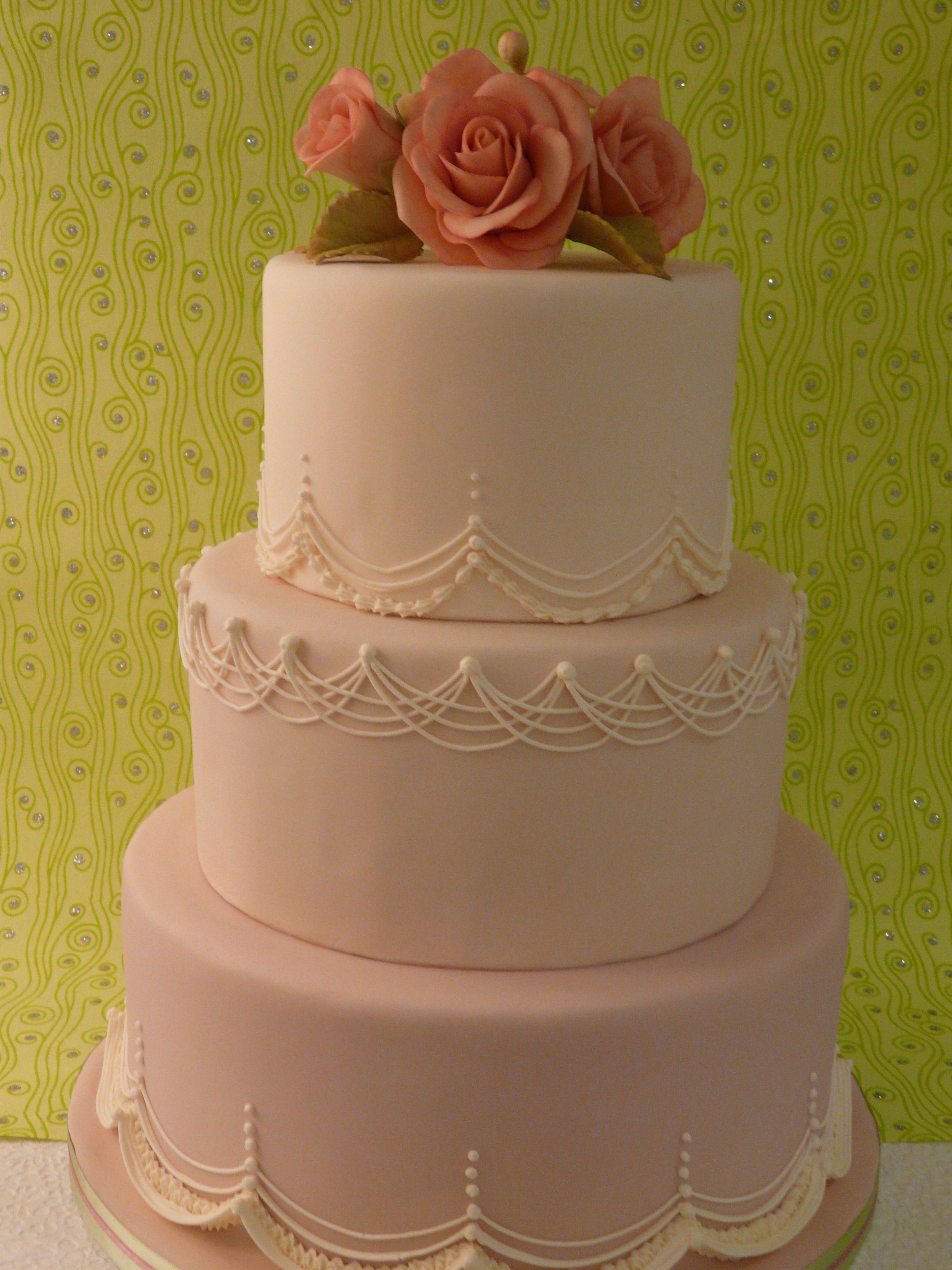 My simple lambeth piping cake Cake, Wedding cake