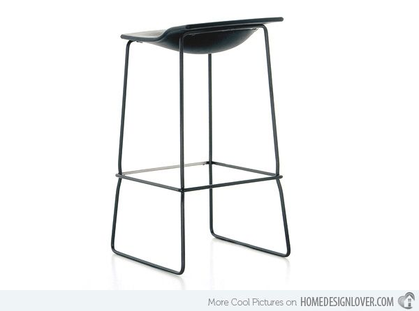 20 Sleek Modern Black Bar Stool Designs