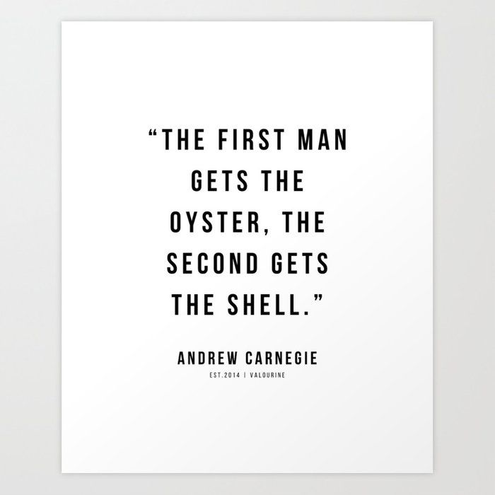 43 |Andrew Carnegie Quotes | 21010 | Motivational Inspirational Success Quote Personal Development Business Coach Art Print by Wordz
