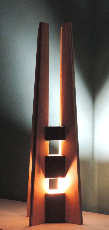 lampe à poser, lampe en bois, lampe design | Lamp design