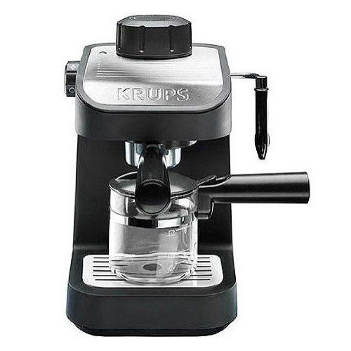 krups xp1020 steam espresso machine with 4 cup glass carafe black. Black Bedroom Furniture Sets. Home Design Ideas