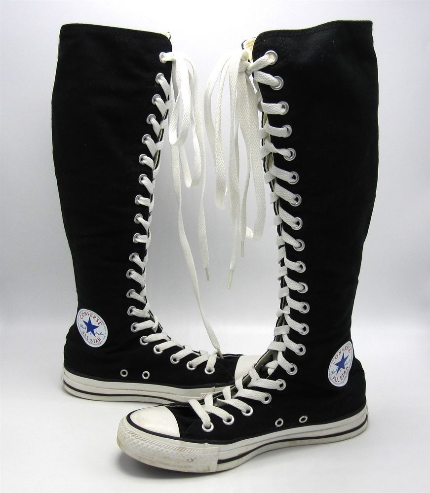 Converse All Star Shoes Chuck Taylor Knee High Top Black