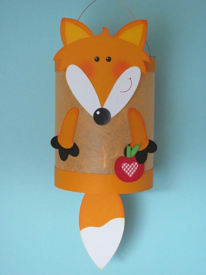 Martin Lantern Fox Orange #martinslaternebasteln