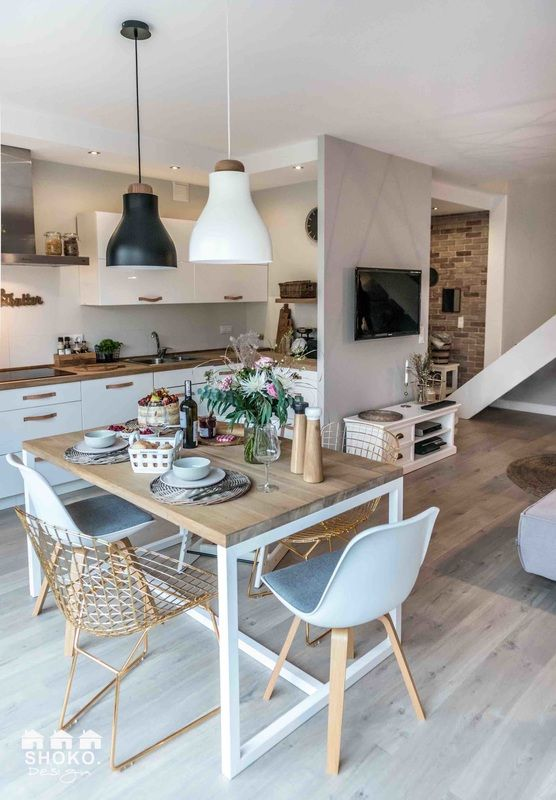 Épinglé par France Noiret sur Home Pinterest Lowlights, Pologne - Cuisine Ouverte Sur Salle A Manger Et Salon