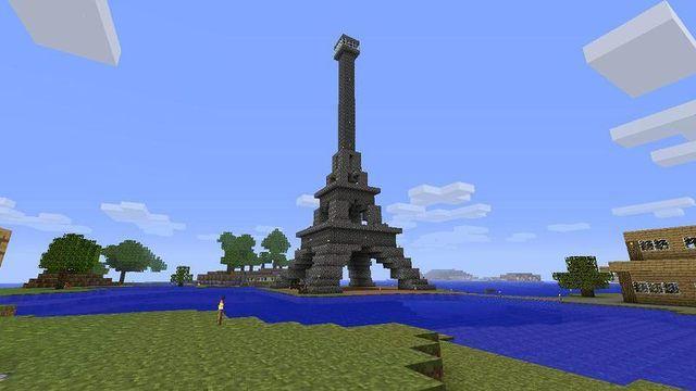 صور اجمل البنايات الحديثة و واقعية في ماين كرافت بحث Google Cool Things To Build Eiffel Tower Castle Tower