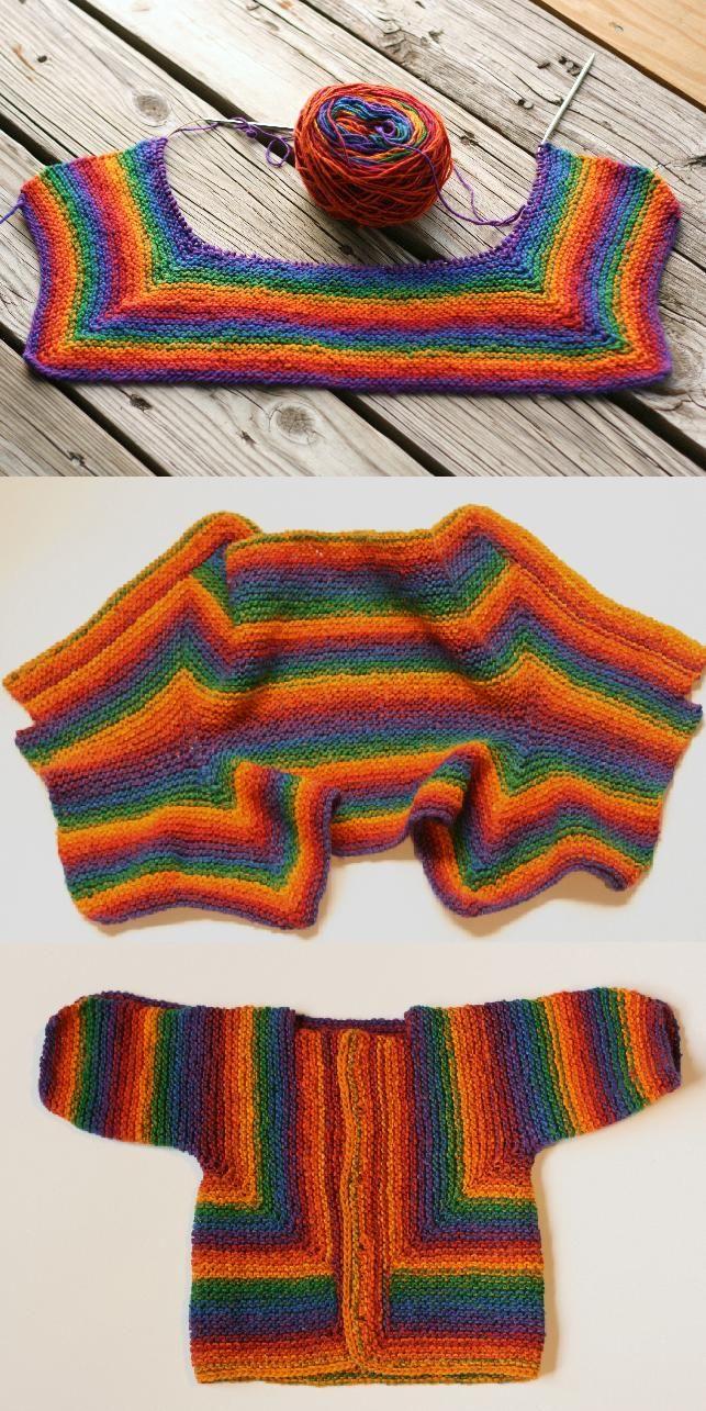 knit project - my Baby Surprise Jacket, Elizabeth Zimmermann design