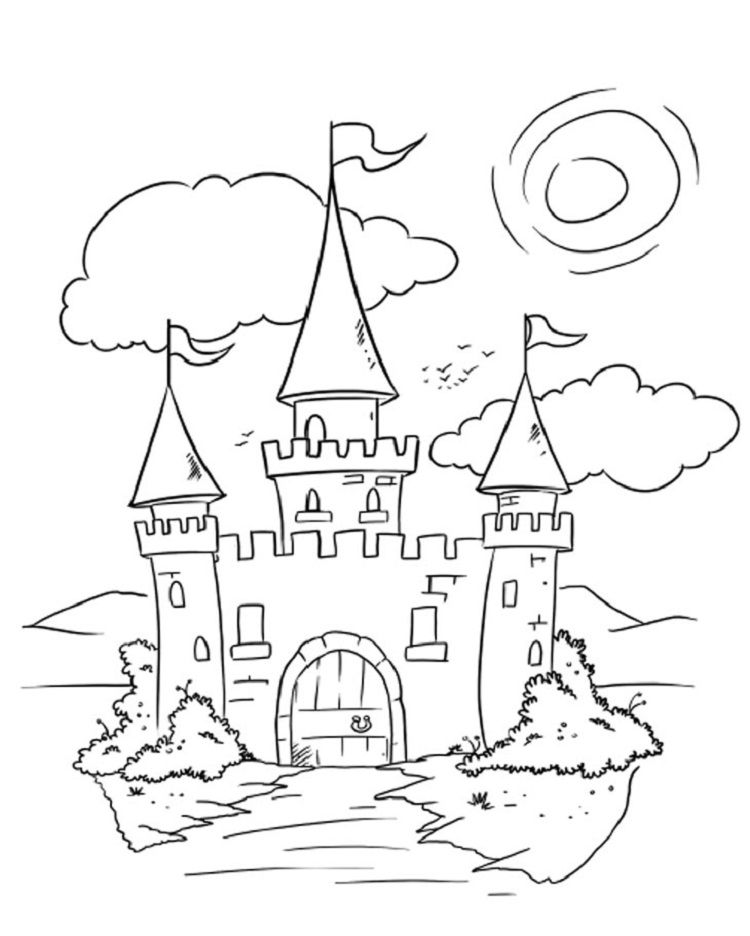 Castle Front Coloring Pages Coloring Pages Disney Coloring Pages Cartoon Coloring Pages