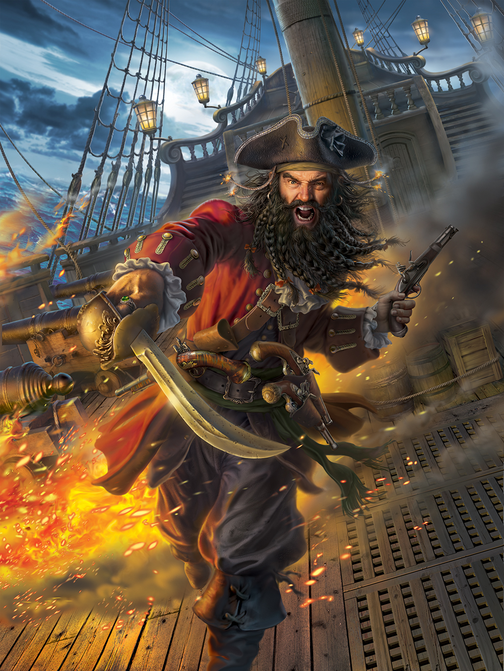 сделать картинка храбрый пират гостях, моей