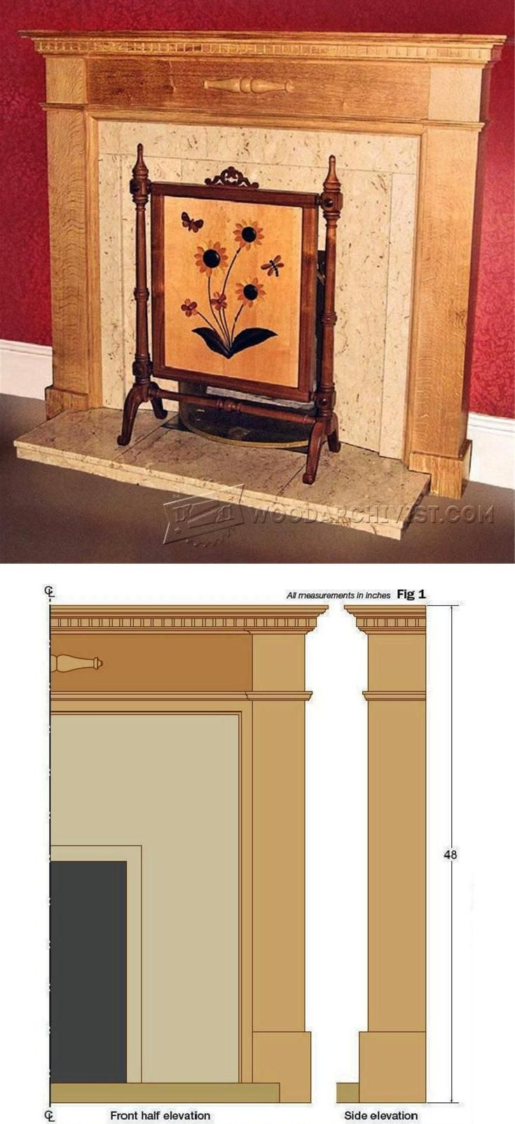 Fireplace Surround Plans Woodworking Plans and Projects