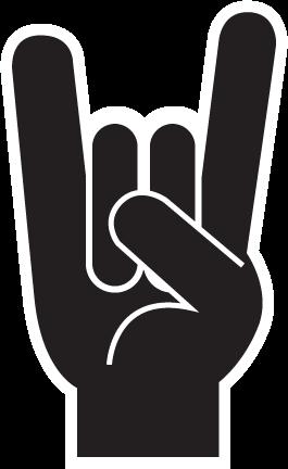 da8b91146 BUMPER STICKERS > Rock On Sign   Project Ideas in 2019   Rock sign ...