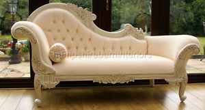french style chaise longue antique white cream sofa