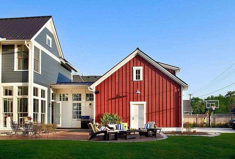 Modern Traditional Home Design With Many Unusual Architectural Elements