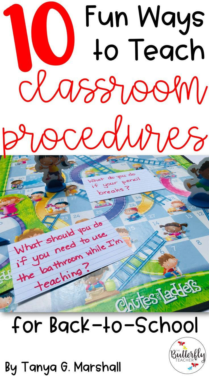 10 Creative and Fun Ways to Teach Classroom Procedures is part of Teaching classroom procedures, Classroom procedures, Teaching, Classroom routines, Teaching procedures, Teacher classroom - Establishing classroom procedures is essential! This post lists 10 fun ways to teach classroom procedures + a FREE procedures checklist!