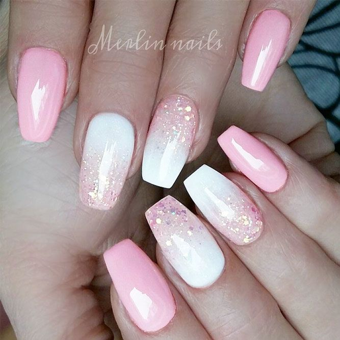 There is so much more to pink and white nails than you have ever imagined!  The versatility and elegance are granted. Would you dare having a look? - 24 Pink And White Nails Trends For Spring And Summer 2018 MY