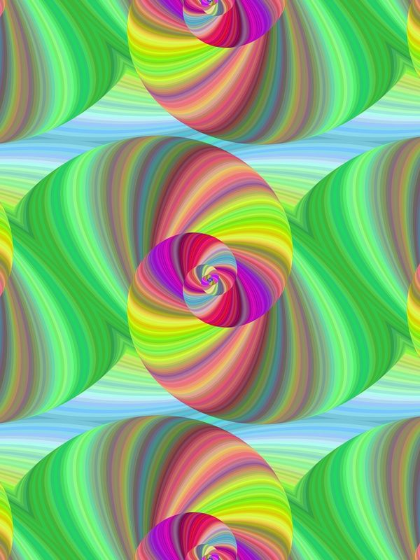 2f64addcb7 Multicolor spiral fractal pattern in bright colors | Fractals ...