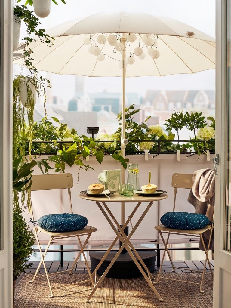 Outdoor Patio terrasse balcon petite table et chaises parasol