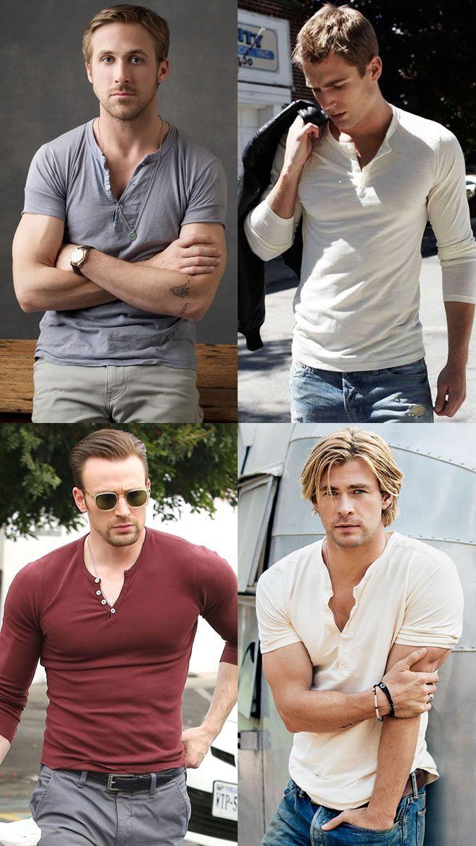 7772b1ec Henley Tops - Ryan Gosling, Chris Evans, Chris Hemsworth | outfit in ...