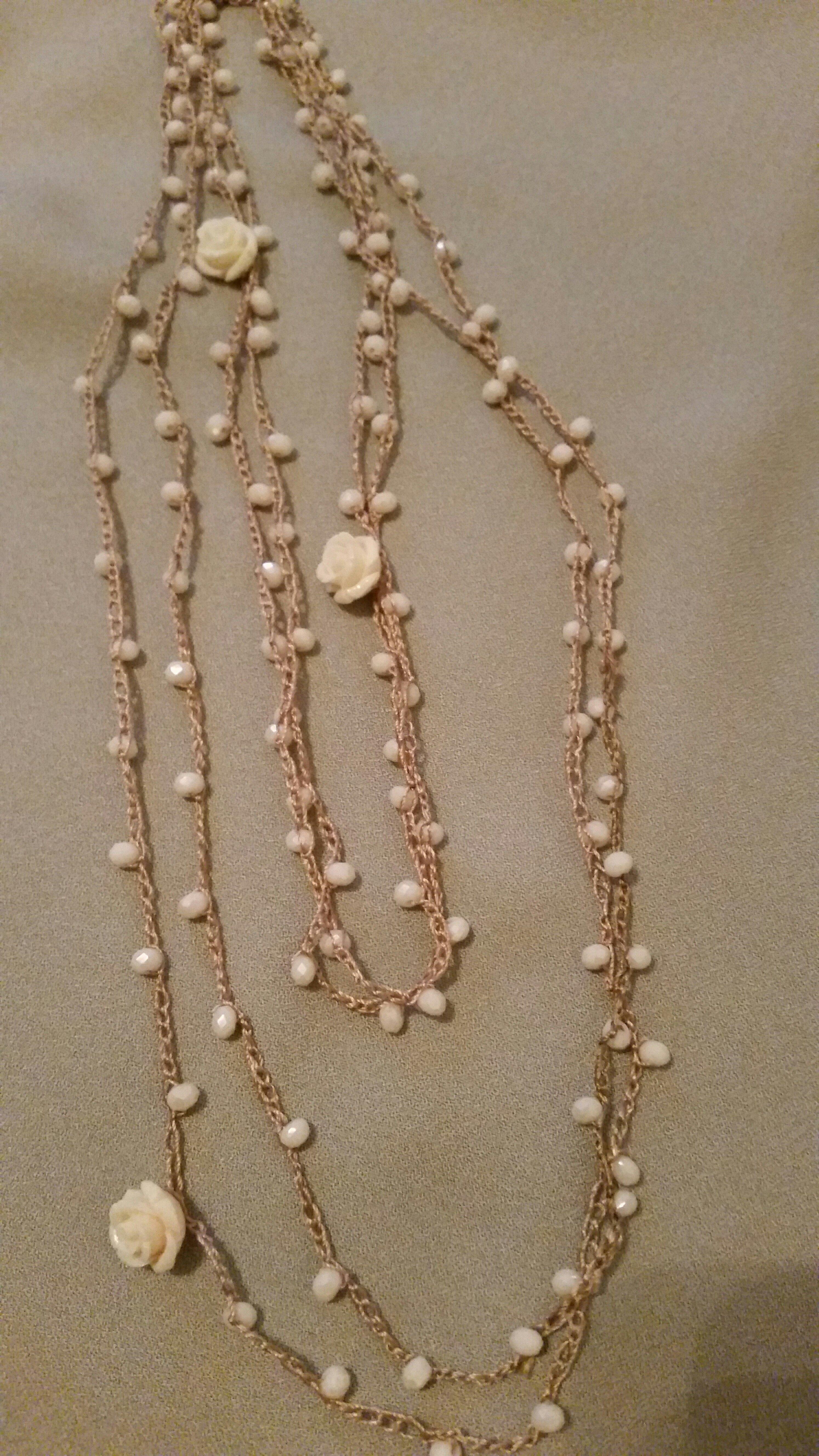 Estremamente p>Ho realizzato queste collane con filo di seta lavorato all  UT04