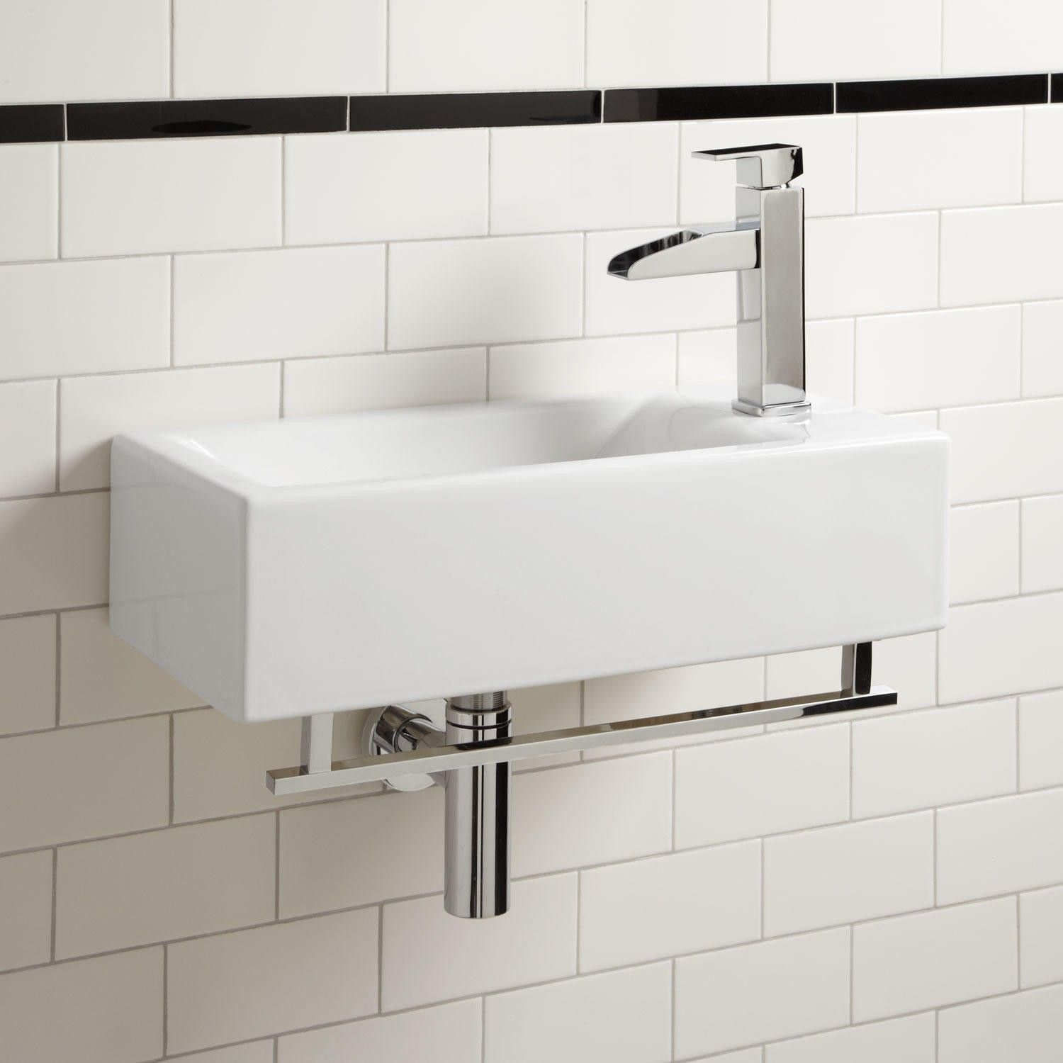 Charmant Leiden Wall Mount Sink With Towel Bar   Wall Mount Sinks   Bathroom Sinks    Bathroom