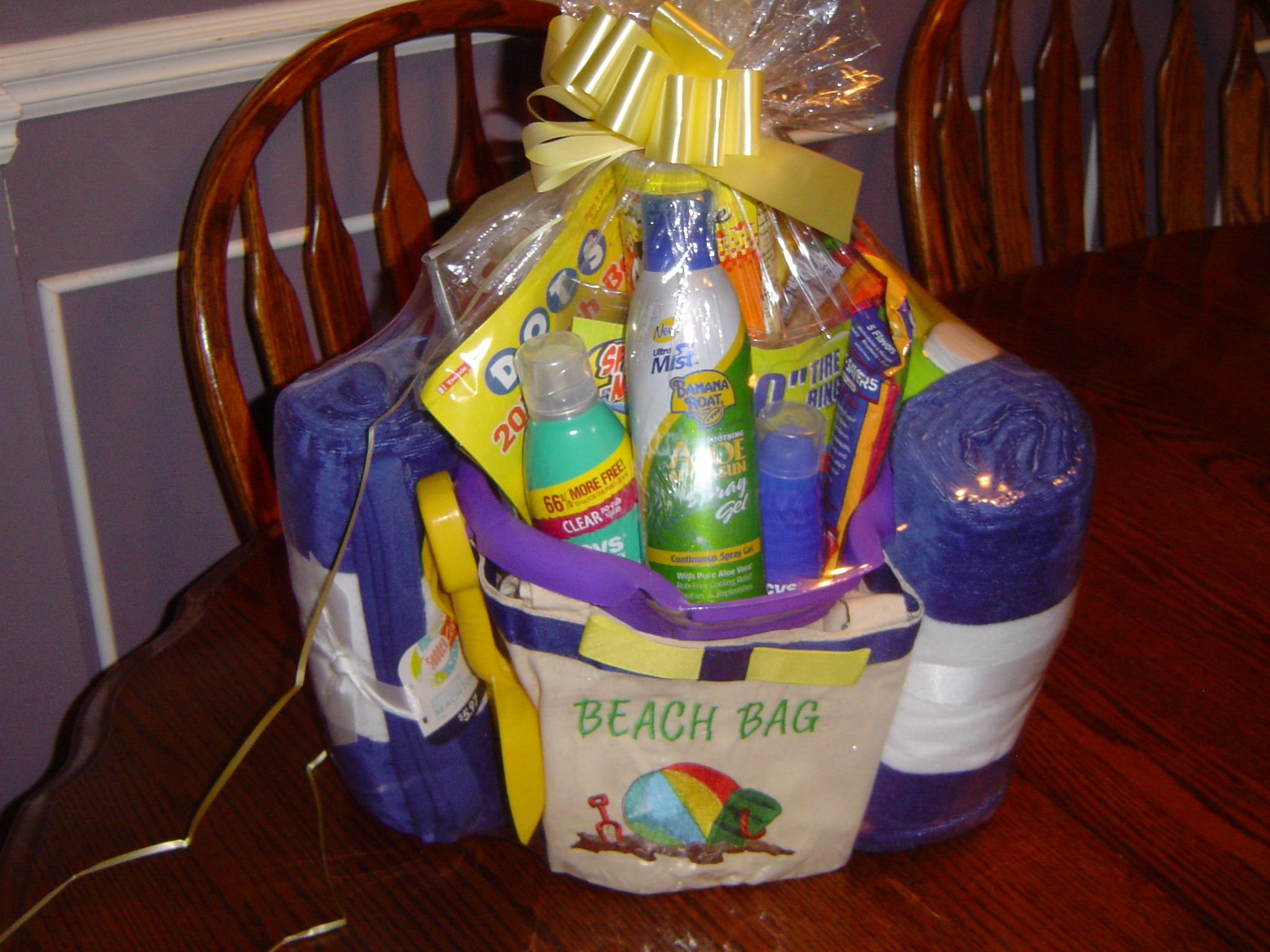 Housewarming Gift For Sister Beach Basket My Sister And I Put Together Gift Basket