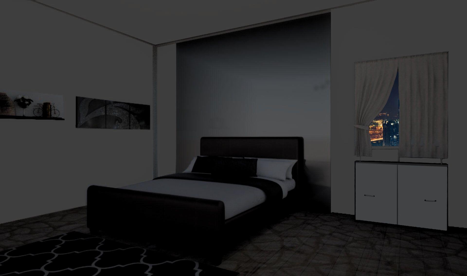 Int Modern Grey Bedroom Night Modern Grey Bedroom Bedroom