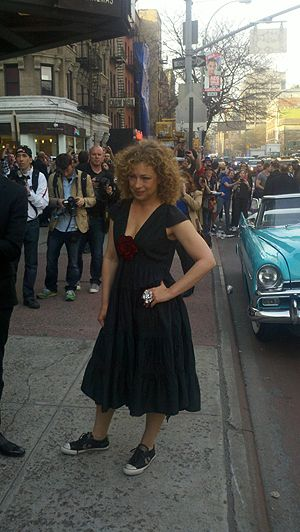 This is why I love Alex Kingston: the shoes with the dress.
