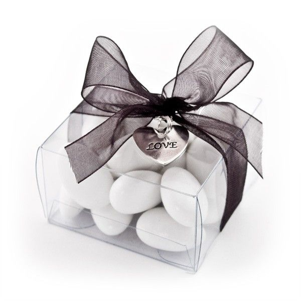 Clear Rectangular Favor Boxes Jordan Almonds