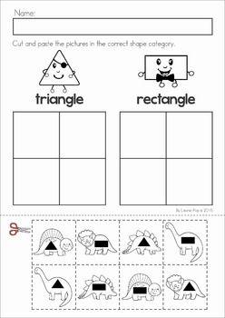 dinosaur preschool no prep worksheets activities. Black Bedroom Furniture Sets. Home Design Ideas