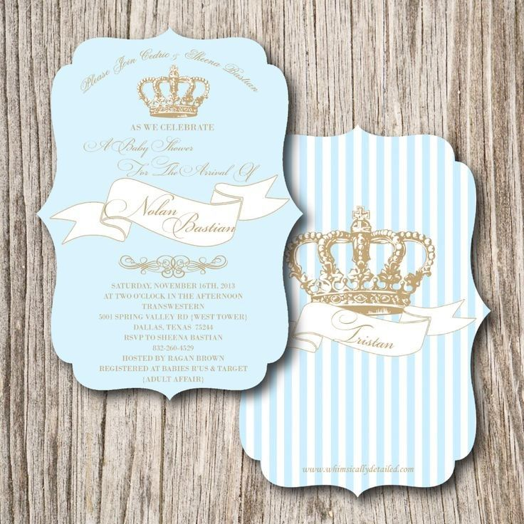 Little Prince Baby Shower Invitations | Baby shower ideas ...