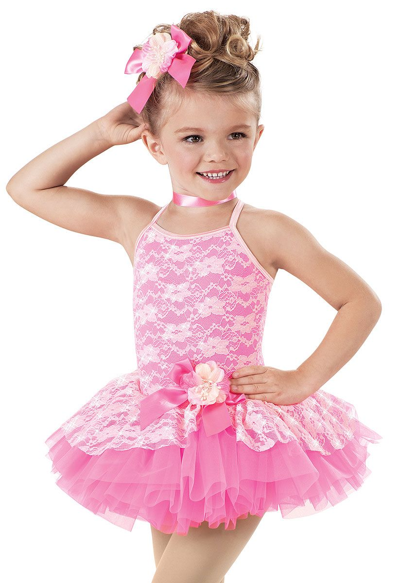 Pink Lace Recital Tutu Dress -Weissman Costumes | Vestidos ...