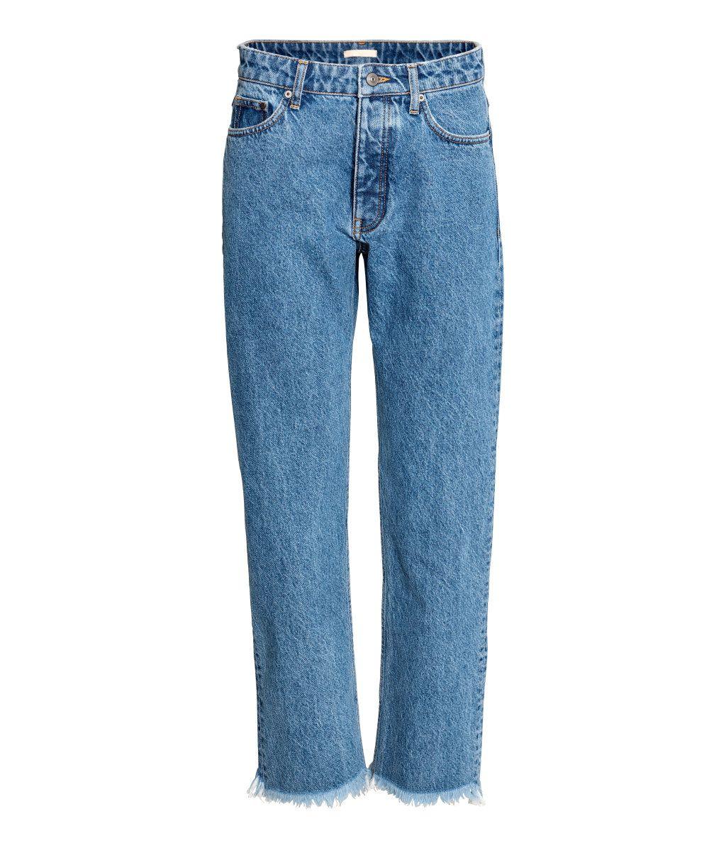 Straight Regular Jeans   Deniminsininen   Naiset   H&M FI
